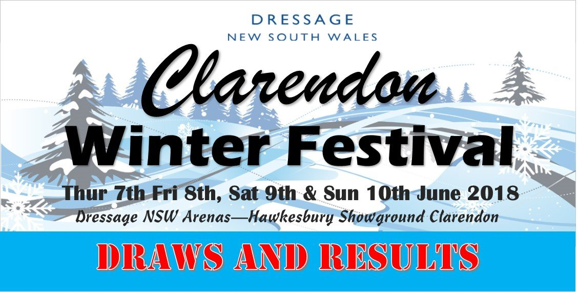 Clarendon Winter Festival - Draws and Results 2018 | Dressage New